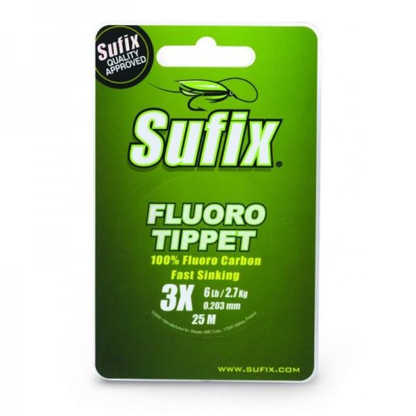 Sufix Fluoro Tippet 25m+PVC 0.138 6X